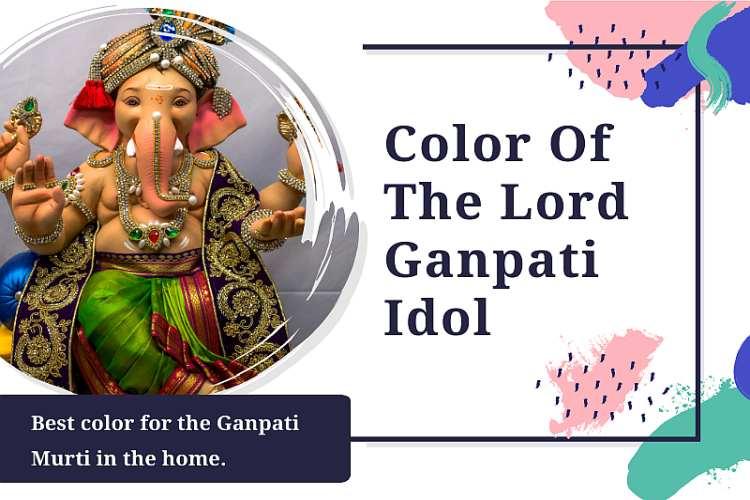 color of lord ganesh idol