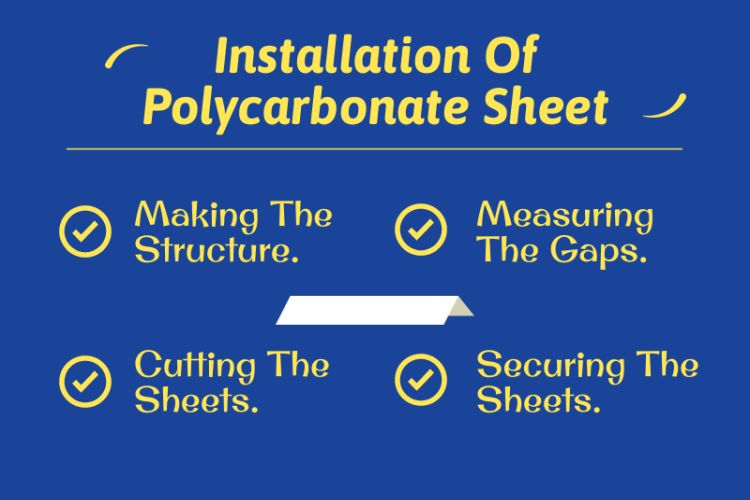 installation of Polycarbonate Sheet